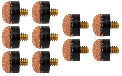 10 pk 11mm POOL CUE SCREW ON TIPS ALSO IN SNOOKER BILLIARD CUES REPLACEMENTS