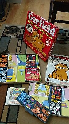 Vintage Garfield Play Sets -Colorforms -1978