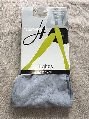 Women's Gray Hanes Seasonless Control Top Tights Size M NWT