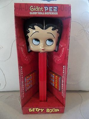 "Betty Boop Giant Pez Candy Roll Dispenser 12"" Pez New"