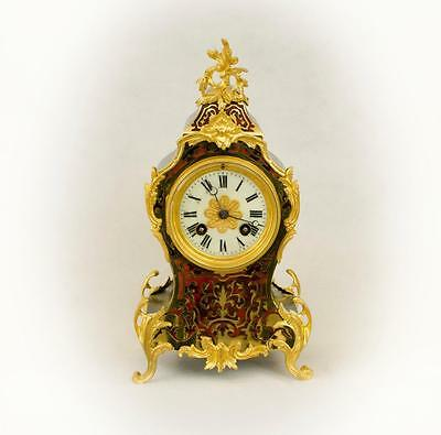 19thC. FRENCH ORMOLU MOUNTED STRIKING BOULLE CLOCK BY JAPY FRERES [#685cc]