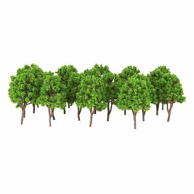 50/100x Plastic Model Trees N Scale Train Layout Wargame Scenery Diorama 7.5cm