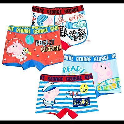 Peppa Pig George Boys Boxers Knickers 2 PACK Cottonrich Briefs 2-8 Yrs New 2017