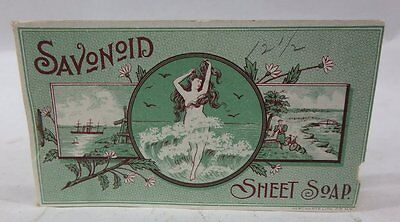 VINTAGE 1890's ADVERTISING FULL BOOK OF SAVONOID SHEET SOAP NICE GRAPHICS