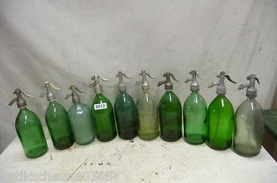 8812. 10 alte Sodaflaschen Siphonflasche Old soda siphon seltzer