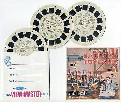 Walt Disney's Babes in Toyland 1961 View-Master Reels with Color Copy Cover