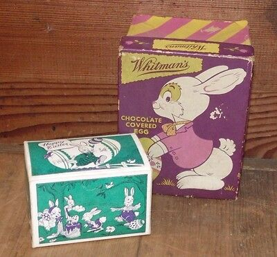 Vintage Easter Cardboard Candy Boxes Whitman's
