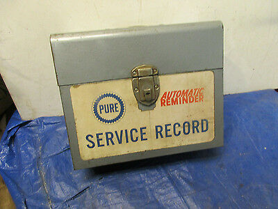 Pure Gas/oil Service Record Case/metal Box/gas Station/sign