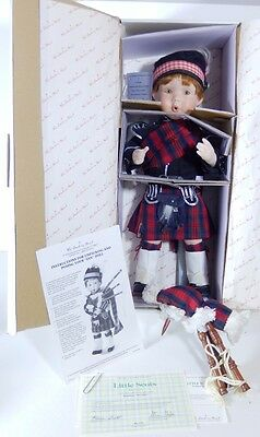 "Danbury Mint Doll Ian Little Scots Scotland Karen Scott Porcelain 16"" Coa"