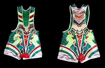 Wwe Big E The New Day Ring Worn And Hand Signed Wrestling Singlet With Coa