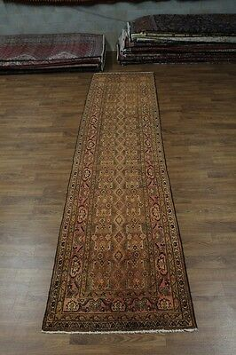Grand Palace Muted Runner Vintage Nahavand Persian Rug Oriental Area Carpet 4X15