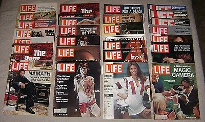 Old Vintage Lot Life Magazine Advertisements 1972 9 Raquel Rolling Stones Namath