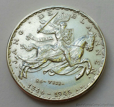1946 20 Francs Luxembourg .835 Silver Coin
