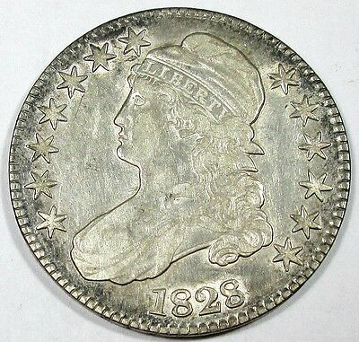 1828 United States Capped Bust Half Dollar - XF+ Extra Fine Plus Condition