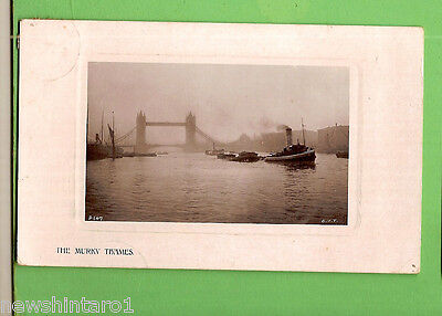 #n.  1907  Postcard -   Boats On The Thames River, London