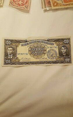 PHILIPPINES 20 PESOS 1949 FLAG MONUMENT note english series