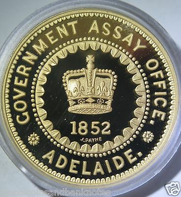 Cook Islands 2005 - 1852 Adelaide Assay Office 5 Pound.. 1oz Silver Proof