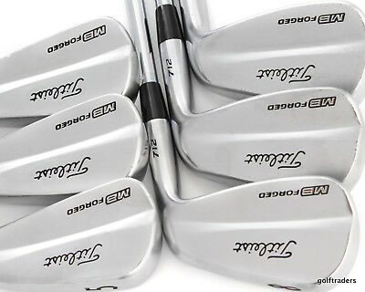 Titleist 712 Mb Forged 5-Pw Irons Steel Dynamic Gold S200 Stiff Flex #d5247