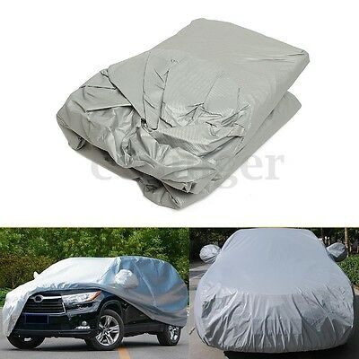 AU Small Size Outdoor Full Car Cover UV Waterproof Snow Dust Sun Rain Protection