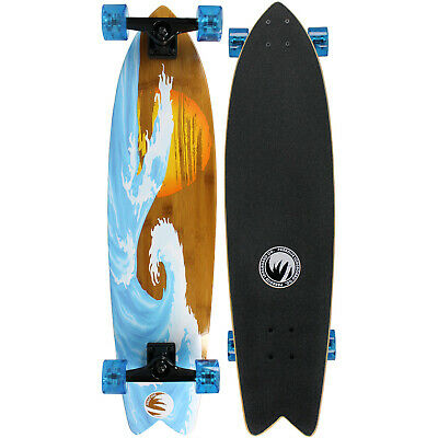 NEW PARADISE Longboard Complete BAMBOO SUNSET WAVE COMPLETE Skateboard