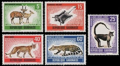 Gabun 1970 - Mi-Nr. 398-402 ** - MNH - Wildtiere / Wild animals