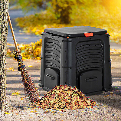106 Gallon (400L) Soil Saver Compost Bin Garden Organic Waste Converter Black