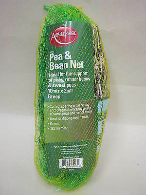 New Ambassador Pea And Bean Net  Green 153mm Mesh 10Mtr X 2Mtr