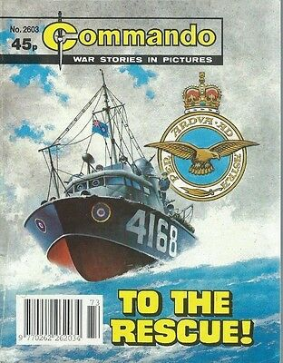 To The Rescue,commando War Stories In Pictures,no.2603,war Comic,1992