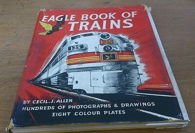 Eagle Book Of Trains, 1953, With Dustwrapper