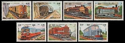 Kambodscha 1984 - Mi-Nr. 584-590 ** - MNH - Lokomotiven / Locomotives