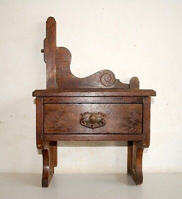 1890's Antique Old  Victorian One Drawer Dressing Vanities Mirror Frame Stand