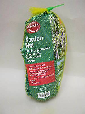 New Ambassador Garden Net Green 15mm Mesh 6Mtr X 4Mtr