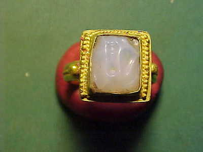 Islamic solid gold  ring  (agate stone)