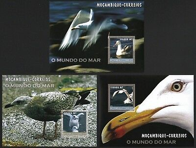 Mocambique 2002 - Mi-Nr. Block 182-184 ** - MNH - Möwe / Seagull