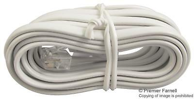 White RJ11 to BT Plug (BT431A) Crossover Telephone Cable - 3m