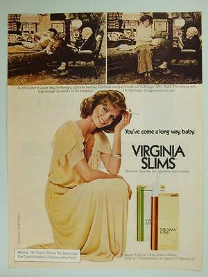 1975 Virginia Slims Cigarettes Vintage Ad Page Model Cheryl Tiegs  Psychotherapy