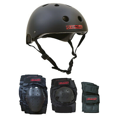 AIRWALK Skateboard Inline Bike HELMET COMBO 4 PACK Knee/Elbow/Wrist Size L/XL