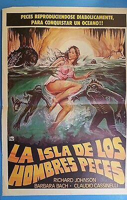 Rare Original Vintage THE ISLAND OF LOST SOULS(1979)Mexican Lobby Card