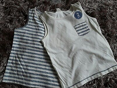 Next boys 2 pack of sleeveless t-shirts age 18-24 months bnwt