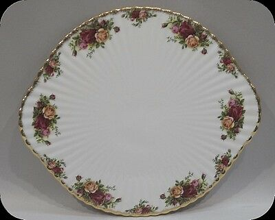 """Royal Albert Old Country Roses Footed Cake Plate Large 13 3/4"""""""