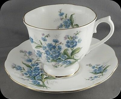 Royal Albert Forget Me Not Cup and Saucer