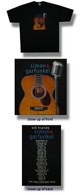 Simon & Garfunkel -NEW 2003 Tour T Shirt-2XLarge  SALE FREE SHIPPING TO U.S.!