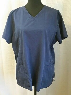 SB Scrubs Navy Blue Scrub Top - Size XL - VGC