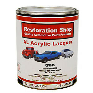 Restoration Shop 1 Gallon CL3245 Hi-Performance Acrylic Laquer Clear Coat