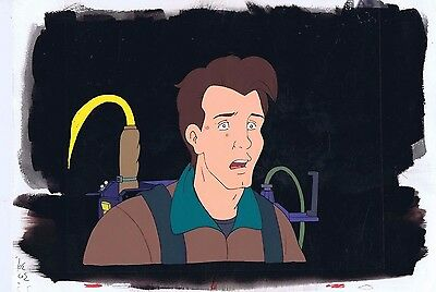 The Real Ghostbusters Original Production Animation Cel & Painted Bkgd #A15441