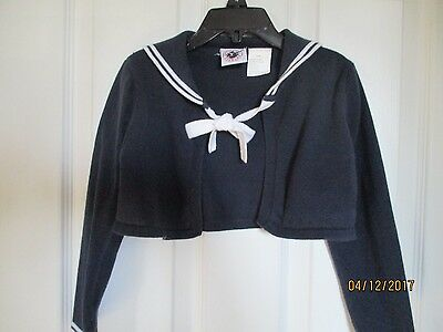 girls size 6 shrug knit nautical sweater/top