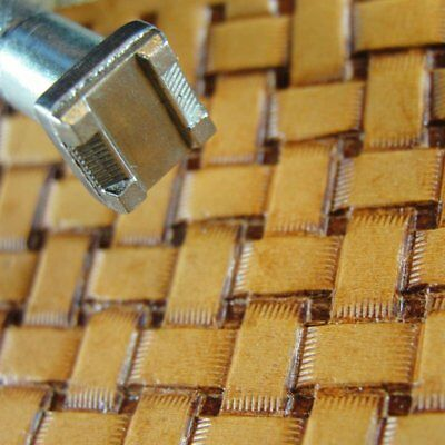 James Linnell - Small Lattice Basket Weave Stamp (Leather Stamping Tool)