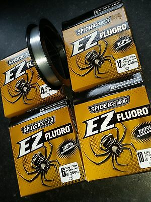 Spiderwire Spider EZ Fluorocarbon 200 yard spool Fishing Fluoro Line NEW