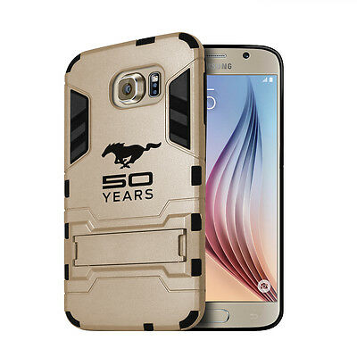 Ford Mustang 50 Years Samsung Galaxy S6 Shockproof TPU ABS Golden Phone Case