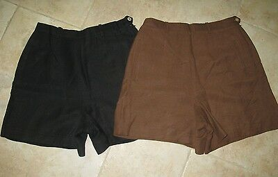 Women's Ann Taylor size 10.  lot of 2 shorts, linen/rayon, Black& Brown